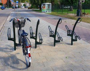 TuliP fietsenrekken bij de bushalte Waalstraat