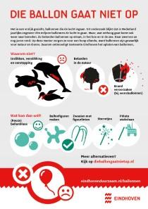 Foto van flyer van de gemeente Eindhoven over ballonnen en milieuschade